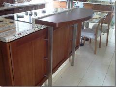 Mesa de comida, pedestal rubí