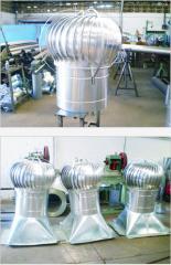 Hoja de trabajo de metales, Extractores o Globos Eólicos