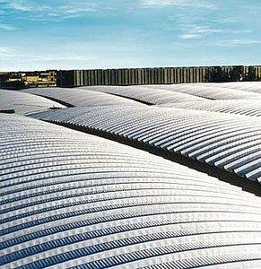 Hojas onduladas de techo de aluminio