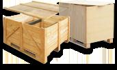 Cajas de madera para la exportación