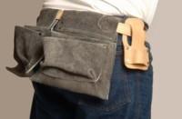Cinturón de cuero para construcción