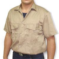 Camisa en tela Drill