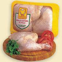 Muslos enteros de pollo sin piel