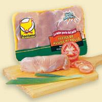 Filetes de muslo de pollo