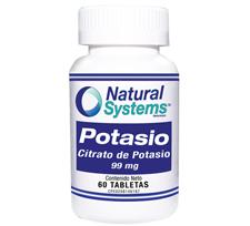 Potasio (Citrato de Potasio) 99 mg.