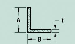 Angulos aluminio lados iguales