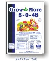 Fertilizantes solubles en agua Grow More 5-0-48