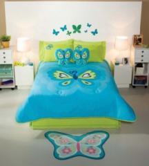 Ropa de cama para infantil, Edredón Mariposa