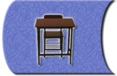Juego de mesa y silla de cátedra tamaño junior