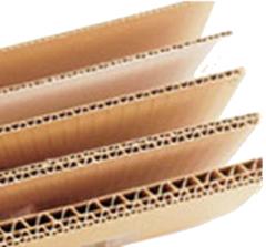 Cartón corrugado, Láminas
