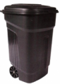 Contenedor c/ruedas y tapa de 135L