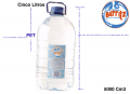 Agua mineral, cinco litros