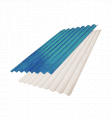 Materiales para techos de plástico, Láminas onduladas