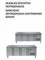 Mesas frías, muebles soporte con cajones refrigerados MFP-135-B