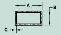 Tubos aluminio rectangulares