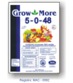 Fertilizantes solubles en agua Grow More 5-0-48