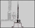 Pararrayos Tipo Franklin, de (1) punta, Base Retráctil
