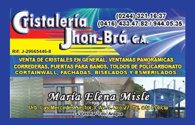 CRISTALERIA JHONBRA, C.A, Maracay