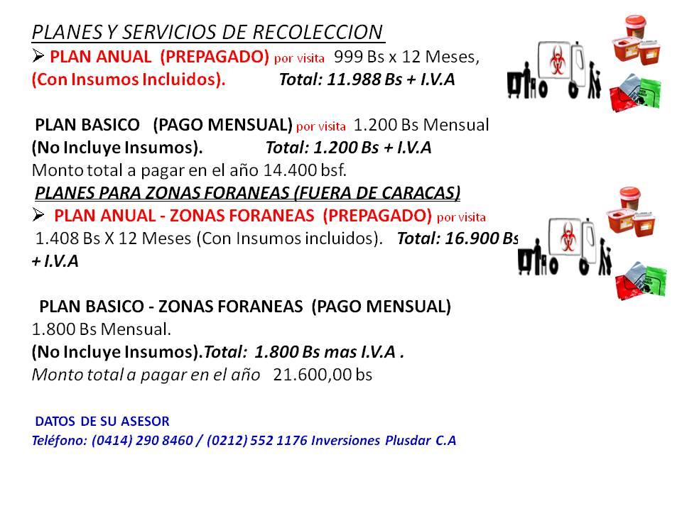 Pedido SERVICIO RECOLECCION DESECHOS HOSPITALARIOS