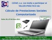 Pedido Taller– Práctico de: Cálculo de Prestaciones Sociales, Computarizado