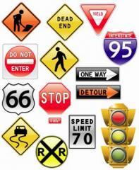 Producción de las señales de tráfico
