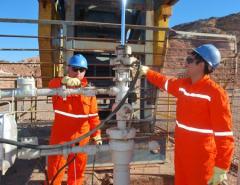Reparación de los pozos de petróleo y gas