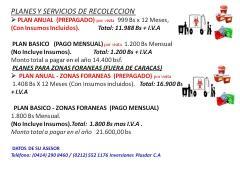 SERVICIO RECOLECCION DESECHOS HOSPITALARIOS