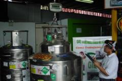 Recarga de cilindros de gas